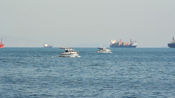 TWO BOATS COMPETING Footage