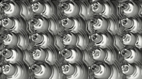 melting mercury cone and metal bubble,silver machine ball... Stock Video Footage