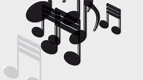 Plastic Music Notes and treble clef Stock Video Footage