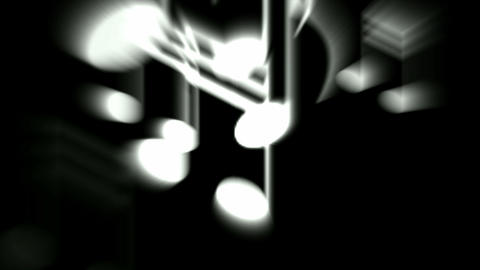 Music Notes and treble clef Stock Video Footage