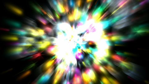 shine stars and soap bubbles with blur rays light... Stock Video Footage