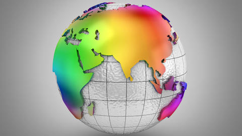 Rotating of Earth Animation