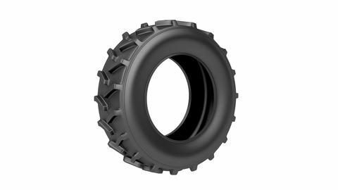 Tractor tire Animation