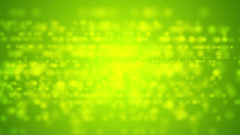 Bright green defocused lights video animation Animation
