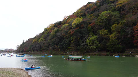 Kyoto Arashiyama fall foliage autumn mountain 京都嵐山紅葉 ライブ動画