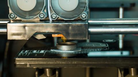 3D-printer mechanism in timelaps Footage