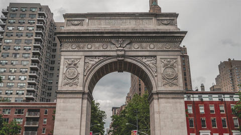 New York City , USA, Timelapse - Washington square, New York City Live Action