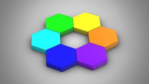 Animation of Hexagons Animation