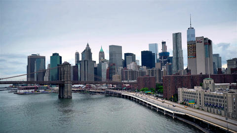 New York City , USA, Video - NYC from Manhattan Bridge Footage