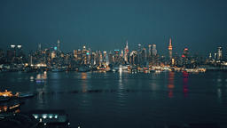 New York City , USA, Video - New York City from the New Jersey Footage