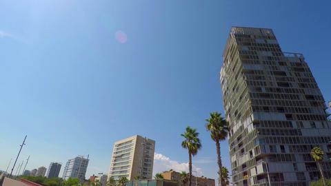 Seaside Hotel Strip Buildings 4k Footage