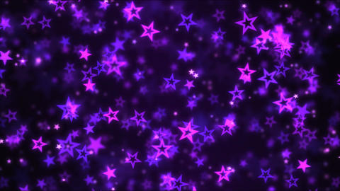 Falling Star Shapes Background Animation - Loop Purple Animation
