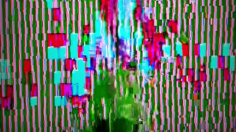 Bad TV signal, damaged video effect, electronics glitch, digital noise, fault in Footage