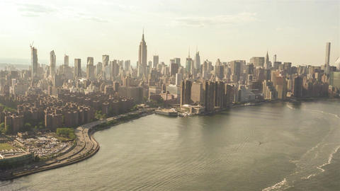 New York City , USA, Video - East River | New York City Footage