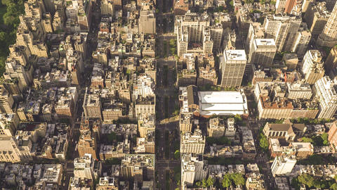 New York City , USA, Video - Above the Upper East Side of New York City Footage