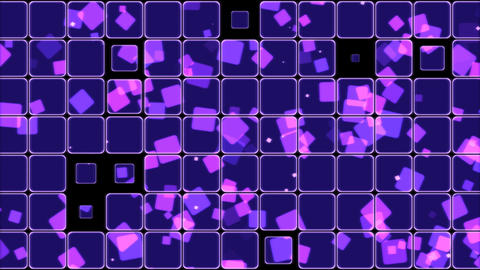 Glowing Tiles and Squares Background Animation - Loop Purple Animation
