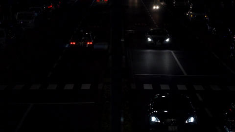 Night view · Overhead view · Car (4 lanes) Filmmaterial