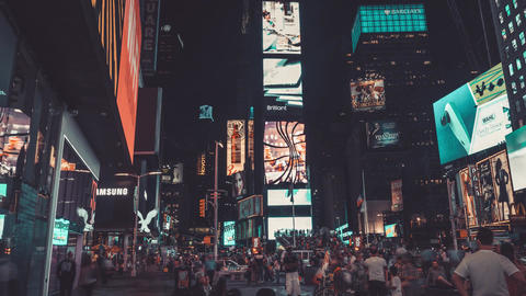 New York City , USA, Hyperlapse - Times Square at Night | New York City Footage