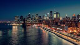 New York City , USA, Timelapse - New York City from Manhattan Bridge Footage