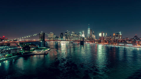 New York City , USA, Timelapse - Lower Manhattan at Night | New York City Footage