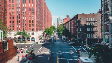 New York City , USA, Timelapse - New York City from the High Line Live Action