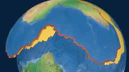 Africa tectonic plate. Natural Earth Animation