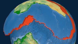 Africa tectonic plate. Physical Animation