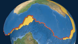 Africa tectonic plate. Satellite imagery Animation
