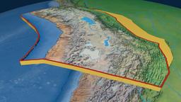 Altiplano tectonic plate. Natural Earth Animation