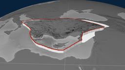 Anatolia tectonic plate. Elevation Animation