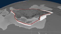 Anatolia tectonic plate. Elevation Animation