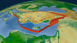 Anatolia tectonic plate. Physical Animation