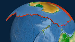 Antarctica tectonic plate. Physical Animation