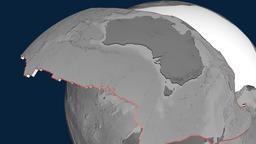 Australia tectonic plate. Elevation Animation