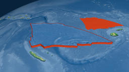 Balmoral Reef tectonic plate. Physical Animation