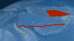 Balmoral Reef tectonic plate. Relief Animation