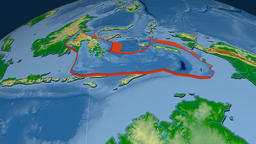 Banda Sea tectonic plate. Physical Animation