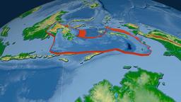 Banda Sea tectonic plate. Physical Animation