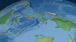Birds Head tectonic plate. Natural Earth Animation