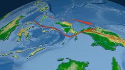 Birds Head tectonic plate. Physical Animation