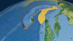 Burma tectonic plate. Topography Animation