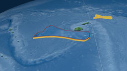 Futuna tectonic plate. Topography Animation