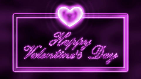 Happy St. Valentine's Day Handwriting. Loopable (Seamless) Animation Animation