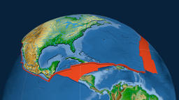 North America tectonic plate. Physical Animation