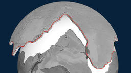 Pacific tectonic plate. Elevation Animation