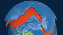 Pacific tectonic plate. Physical Animation