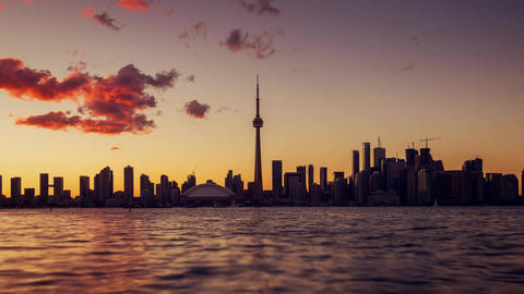 Toronto, Canada, Timelapse - Toronto after the Sunset Footage