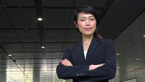 Confident Happy Successful Asian Business Woman Businesswoman Smiling At Camera Live Action