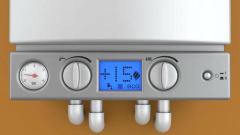Modern turbofan boiler Animation
