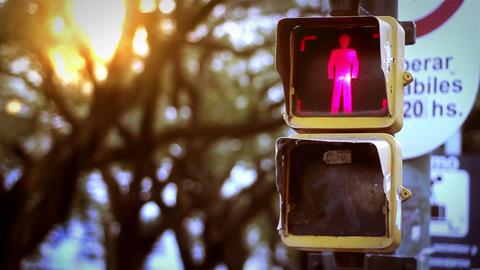 Traffic Light and Sun Footage